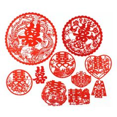 Xuang Xi Double Happiness Ala Chinese Mix Papercut YSM 20-25pcs (Ready Stock)