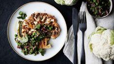 Halloumi-kesäkurpitsakääröt - Yhteishyvä Halloumi, Cauliflower, Chili, Bbq, Food And Drink, Ethnic Recipes, Barbecue, Chile, Barrel Smoker