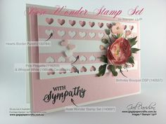 GaGa Papercrafts   Rose Wonder Sympathy Card for GDP032   Click on the image to see more from GaGa Papercrafts. #gagapapercrafts #stampinup #rosewonderstampset #sympathycard #handmadecards #greetingcards #gdp032 #globaldesignproject