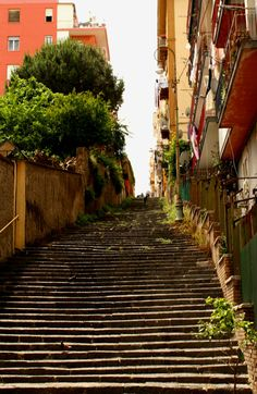 One of Naples many stairways...