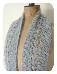 Crochet scarf, Free Pattern by Laynne Beatriz Nunes