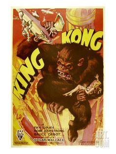 King Kong, 1933 Premium Poster at Art.com