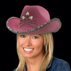 LED Pink Cowboy Hat | Windy City Novelties ONLY $6 HERE INSTEAD OF $18 LOL