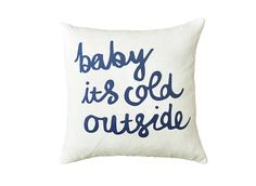 Baby it's Cold Outside Throw Cushion by ZanaProducts on Etsy