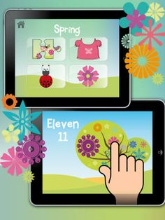 Seasons, a lovely educational app, to teach your kids about summer, winter, autumn and spring.