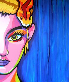 My latest acrylic painting 'Snake Girl'