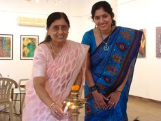 My mother-in-law inaugurating the exhibition