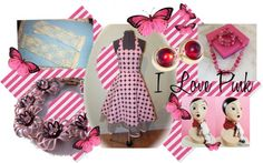 """I love Pink Vintage Anything!"" by thejewelseeker-1 ❤ liked on Polyvore"