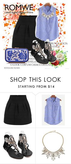 """""""Romwe 5"""" by dinka1-749 ❤ liked on Polyvore featuring ABS by Allen Schwartz and Katrin Langer"""
