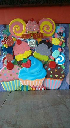 Candy Theme Birthday Party, Candy Land Theme, Carnival Birthday Parties, Birthday Backdrop, Candy Party, Christmas Party Games, Holiday Fun, Christmas Crafts, Turtle Birthday