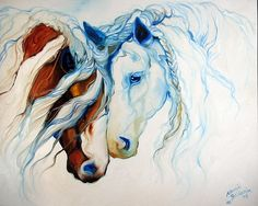 horse painting by Marcia Baldwin