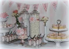 Pink & White Romantic Candy/Dessert Table for Bridal Shower Wedding & Event Planning/ The Perfect Table Cape Cod
