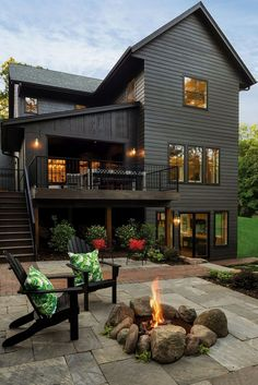 This rural Victorian, Deephaven home by Aspect Design Build features art deco and soft industrial elements while drawing inspiration from Oregon's coast. Awesome DIY Stone Patio plans To Build To Complement Your Landscape Stone Patio Designs, Backyard Patio Designs, Pergola Patio, Diy Patio, Patio Ideas, Pergola Ideas, Backyard Ideas, Patio Plans, Pergola Plans