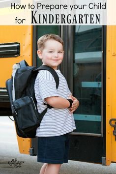 How to Prepare your Child for Kindergarten - The Resourceful Mama