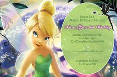 tinkerbell invitations printable free - Αναζήτηση Google