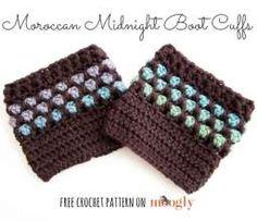 Moroccan Midnight Boot Cuffs - FREE crochet pattern on Moogly!