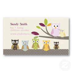 pixdezines whoots daycare business card - Daycare Business Cards