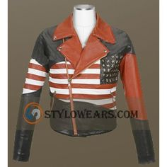 You can buy this American flag leather jacket