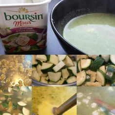Courgette soep met boursin mini's