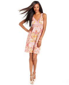 INC International Concepts Dress, Sleeveless Paisley-Print Empire-Waist Jersey - Womens Sale & Clearance - Macy's