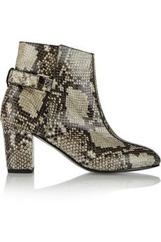 NewbarK Sabrina snake-effect leather ankle boots | NET-A-PORTER