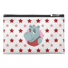Cute hippopotamus cartoon travel accessory bag