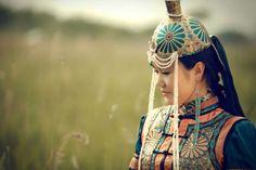 Mongolian girl in national dress.