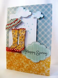 penny black april showers card idead - Google Search