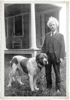 """The more I learn about people, the more I like my dog."" — Mark Twain. S)"