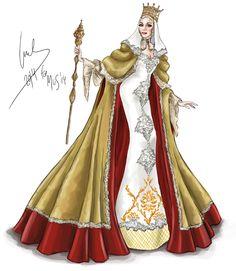 Exclusiva en hola.com: desvelamos el boceto del traje típico que Desiré Cordero lucirá en la final de Miss Universo -Isabel la Católica