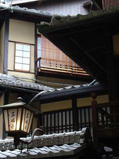 """Intersecting Old Building Roofs on Teramachi Street by Rekishi no Tabi on…"