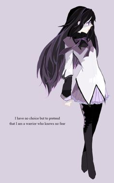 Akemi Homura - I didn't like her at first when I watched the series, but then after a few episodes went by, I began to sincerely take all that back. She is the saddest and yet one of the strongest characters in the series because she tries relentlessly to fix things even when they cannot be fixed in the way she wants them to be.