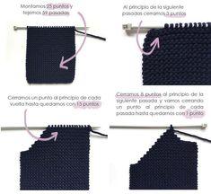abrigo-de-punto-5 Baby Knitting Patterns, Baby Sweater Knitting Pattern, Knitting For Kids, Tunisian Crochet, Knit Crochet, Baby Sweaters, Baby Girl Dresses, Crochet Clothes, Crochet Bikini