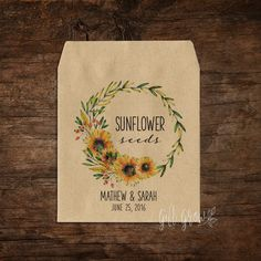 Sunflower Seed Packets Wedding Seed Packets Seed Packet Favor Seed Favor Let Love Grow Rustic Wedding Favor Garden Wedding x 25 Wedding Gifts For Guests, Rustic Wedding Favors, Wedding Ideas, Garden Wedding Invitations, Wedding Hair Flowers, Seed Packets, Sunflower Seeds, Trendy Wedding, Receptions
