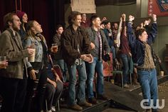 "Supernatural -- ""Beyond The Mat"" -- Image -- Pictured (L-R): Jared Padalecki as Sam and Jensen Ackles as Dean -- Photo: Liane Hentscher/The CW -- © 2016 The CW Network, LLC. All Rights Reserved. Supernatural Season 11, Supernatural Tumblr, Supernatural Episodes, Jensen Ackles, Jared And Jensen, Mark Sheppard, Sam Winchester, Jared Padalecki, Misha Collins"