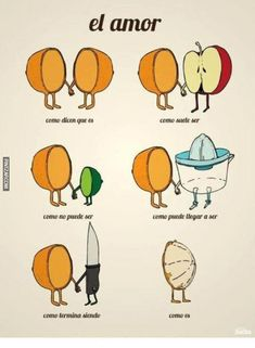 An Orange Explains What is Love?: How they say love is. How love usually is. How love can't be. How love can end up. How love ends. How love leaves you. Funny Cartoons, Funny Comics, Adult Cartoons, Funny Relatable Memes, Funny Quotes, Funny Humor, 9gag Funny, Humor Humour, Funny Gym