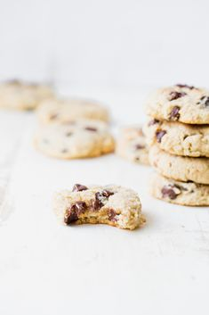 Deliciously soft, paleo almond flour chocolate chip cookies with gooey chocolate in every bite. These cookies have a punch of protein thanks to Vital Proteins Collagen Peptides! It's day 4 of cookie w Chocolate Marshmallow Cookies, Chocolate Chip Shortbread Cookies, Toffee Cookies, Yummy Cookies, Healthy Cookies, Paleo Dessert, Dessert Recipes, Sweets Recipe, Salted Caramel Mocha