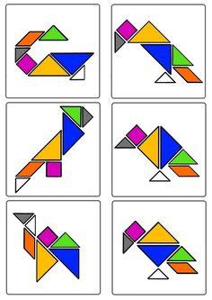 Tangram - Oiseaux planche n°2