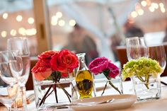 Small, simple, romantic. Rent small vases for DIY flower centerpieces