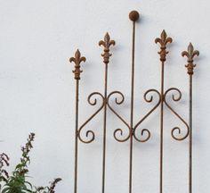 Stilvolles Zaunelement Eisen Zaun Rost 87 Cm Marseille