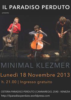 Minimal Klezmer 18 novembre 2013