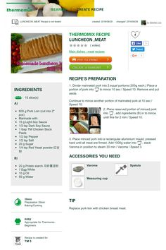Luncheon Meat Pork Recipes, Cooking Recipes, Yummy Recipes, Luncheon Meat Recipe, Good Food, Yummy Food, Marinated Pork, Create A Recipe, Main Dishes