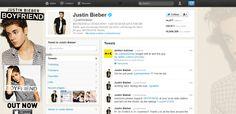 Justin Bieber's Twitter account Hacked