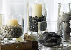 yoga room ideas zen space home ~ home zen room . home zen room meditation space . home zen room interiors . yoga room ideas zen space home . zen home decor living room . home yoga room zen . zen home gym workout rooms . home office zen room Vases Decor, Table Decorations, Centerpiece Ideas, Vase Ideas, Candle Centerpieces, Simple Centerpieces, Aquarium Decorations, Pierre Decorative, Decorative Glass