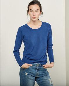 Jersey básico de mujer Sfera en azul