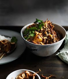Thai recipe for beef and potato Massaman curry.