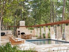 Looking for Outdoor Space and Swimming Pool ideas? Browse Outdoor Space and Swimming Pool images for decor, layout, furniture, and storage inspiration from HGTV. Patio Pictures, Room Pictures, Outdoor Spaces, Outdoor Living, Outdoor Decor, Outdoor Kitchens, Outdoor Landscaping, Outdoor Ideas, Hgtv Dream Homes