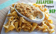 """Jalapeno Popper Dip recipe. One pinner said  """"I can't even put into words how good this dip is. It is so easy. I would not change a thing! If you are going to a gathering with several guests, you had better make two!! It's the perfect SuperBowl appetizer too!"""""""