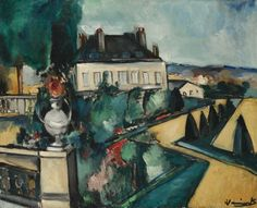 Maurice de Vlaminck (1876-1958) - Saint-Cloud, le Parc - Vue sur la Terrasse de l' Orangerie, ca 1911  Oil on canvas (64.8 x 80.7 cm)