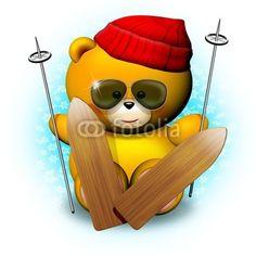 Just Luv'd on @Luvocracy |   ☆SOLD on #Fotolia!☆   #Cute #Teddy #Bear #Skier! #Christmas Holidays! © bluedarkat   http://it.fotolia.com/id/17878963/partner/200929677